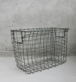 fog linen work storage basket * non * wire cago / wristlet / storage