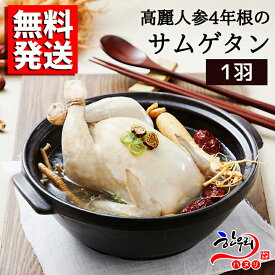 【送料無料】高麗人参4年根のサムゲタン (1羽)/韓国料理/スープ/「ハヌリ」
