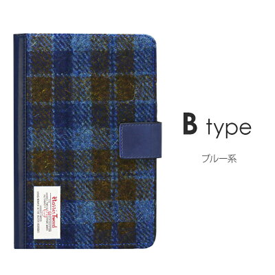 iPadmini4薄型ハリスツイード「HarrisTweed」/【HarrisTweed】×【LEPLUS】/スタンド機能/カード収納ポケット/オートスリープ対応