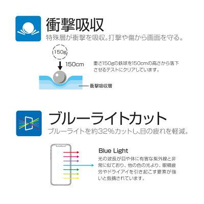iPhoneXSMax保護フィルム「SHIELD・GHIGHSPECFILM」全画面3DFilm・ブルーライトカット・衝撃吸収