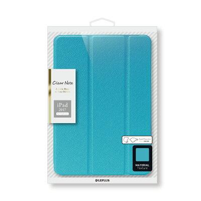 iPadPro12.9インチ(2017)背面クリアフラップケース「ClearNote」ブラック/ホワイト/ブルー