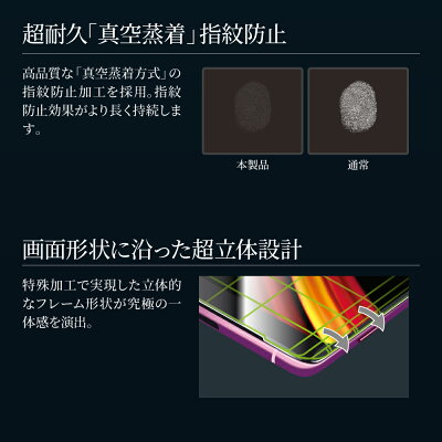XperiaXZ3SO-01L/SOV39ガラスフィルム「GLASSPREMIUMFILM」超立体オールガラス/高光沢/0.33mmエクスペリア