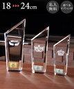 クリスタルトロフィー 24cm★即日発送★13時まで★3サイズ 名入れ ガラス製 2D オリジナル 即納 表彰 退職祝い 記念品…