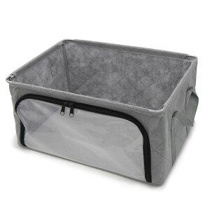 【月間優良ショップ受賞】アストロ 収納ボックス グレー ワイヤー入り 不織布 活性炭 消臭 衣類 小物の収納に 620-80