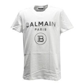 【店内全品ポイント5倍!6/20(日)00:00〜6/21(月)09:59まで!】バルマン BALMAIN メンズTシャツ 半袖 メンズ ロゴ コットン ホワイト TH11601 T-SHIRT BLANC 0FA WHITE I231
