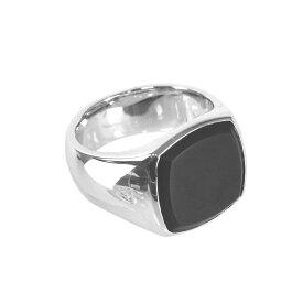 トムウッド TOM WOOD リング 指輪 レディース シルバー ブラックオニキス 天然石 シルバー925 アクセサリー ジュエリー ブラック R74HQMBO01S925 CUSHION BLACK ONYX