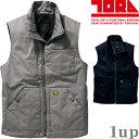 作業服 寅壱 防寒ベスト 1802-602 TORAsted Military Vest 4L (秋冬用)