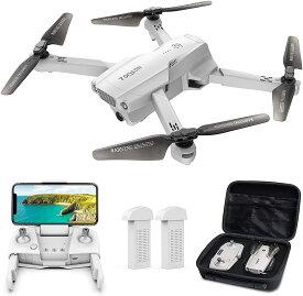 【ポイント10倍!】 ドローン Tomzon GPS搭載 4K HD 広角カメラ付き 飛行時間40分 リアルタイム伝送 折り畳み式 高度維持・ワンキー離陸/着陸・フォローミーモード・ジェスチャー撮影 ・MVモード・オートリターン 収納ケース付き バッテリー2個