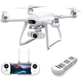 Potensic ドローン Dreamer 4K HDカメラ SONYセンサー GPS搭載 31分間飛行時間 ブラシレスモーター 広角 耐風 安定飛行 2時間充電 モード1/2自由転換 オートリターンモード フォローミーモード 高度維持 ヘッドレスモード 国内認証済み 真っ白