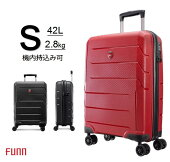(FUNNファン)2020モデル機内持込TSAロック新型スーツケースキャリーケースキャリーバッグトラベルバッグダブル静音キャスター超軽量マット加工旅行かばんBN8019Sサイズ