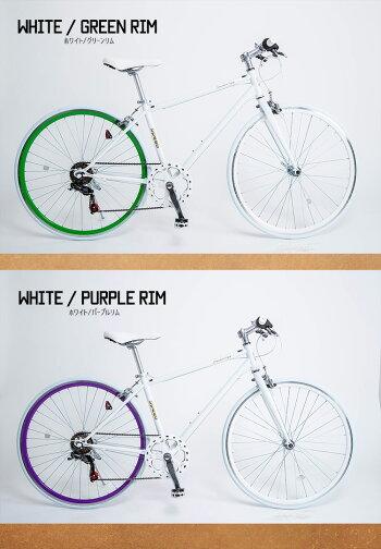 送料無料自転車クロスバイク楽天ランキング1位受賞シティサイクル700x28C本体シマノ製6段変速じてんしゃシティーサイクルスポーツ通勤通学【CL266】【本】