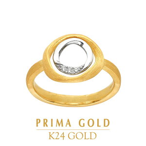 純金 指輪 ホワイトゴールド ダイヤモンド リング レディース 女性 イエローゴールド 宝石 誕生日 贈物 24金 ジュエリー アクセサリー ブランド プリマゴールド PRIMAGOLD K24 送料無料
