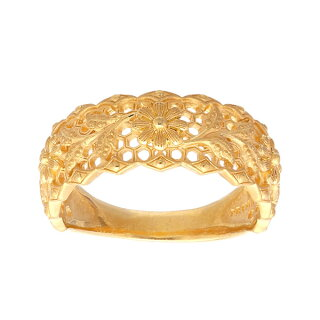 純金指輪美しいラインレディース女性イエローゴールドギフトプレゼント誕生日贈物24金ジュエリーアクセサリーブランド地金品質保証人気プリマゴールドPRIMAGOLDK24送料無料