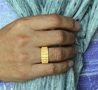 ●24KMens純金リング【指輪】【ワニ皮クロコダイル調】●24金純金K24YG【メンズ男性用ゴールド】●PRIMAGOLDプリマゴールド【送料無料】【ギフト贈り物】