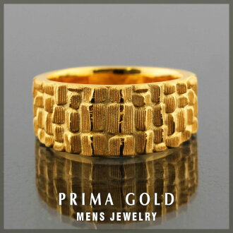 24K Mens pure gold ring gold pure gold K24YG PRIMAGOLD Rakuten jewelry ranking first place acquisition