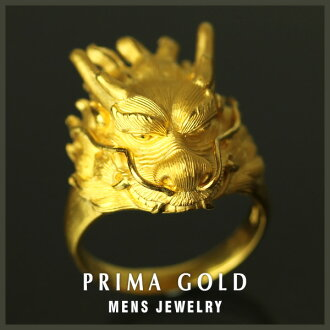 24K Mens pure gold ring gold pure gold K24YG PRIMAGOLD
