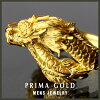 Pure gold ring gold ring 24k gold K24 present man gift DORAGON (dragon) dragon motif PRIMAGOLD