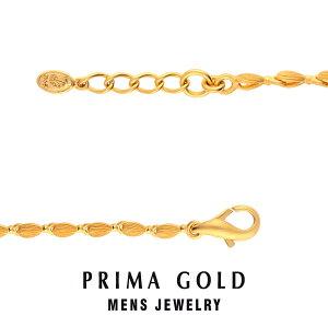 純金 24K ブレスレット 粒 コマ メンズ 男性 イエローゴールド プレゼント 誕生日 記念日 贈物 24金 ジュエリー アクセサリー ブランド プリマゴールド PRIMAGOLD K24 送料無料