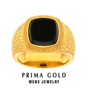 純金 24K 天然ストーン 印台リング 指輪 メンズ 男性 イエローゴールド プレゼント 誕生日 記念日 贈物 24金 ジュエリー アクセサリー ブランド プリマゴールド PRIMAGOLD K24 送料無料
