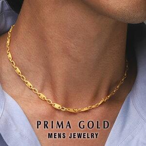 純金 デザインネックレス メンズ 男性 イエローゴールド プレゼント 誕生日 記念日 贈物 24金 ジュエリー アクセサリー ブランド プリマゴールド PRIMAGOLD K24 送料無料