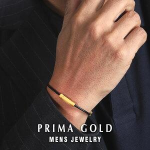 純金 24K ヘッド メンズ ブレスレット 男性 イエローゴールド ブラックコード プレゼント 誕生日 記念日 贈物 24金 ジュエリー アクセサリー ブランド プリマゴールド PRIMAGOLD K24 送料無料【あ