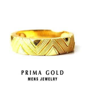 純金 24K 幾何学 リング 指輪 メンズ 男性 イエローゴールド プレゼント 誕生日 記念日 贈物 24金 ジュエリー アクセサリー ブランド プリマゴールド PRIMAGOLD K24 送料無料