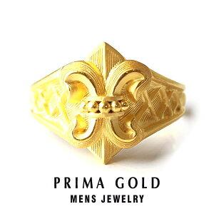 純金 24K 中世ヨーロッパ リング 指輪 メンズ 男性 イエローゴールド プレゼント 誕生日 記念日 贈物 24金 ジュエリー アクセサリー ブランド プリマゴールド PRIMAGOLD K24 送料無料