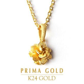 -PRIMAGOLD 表面黄金花瓣花 24 24 k 黄金固体黄金 995 首饰