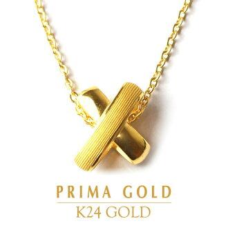 -PRIMAGOLD 表面金优雅椭圆形十字架吊坠 K24-24-24 k 纯黄金黄金黄金首饰