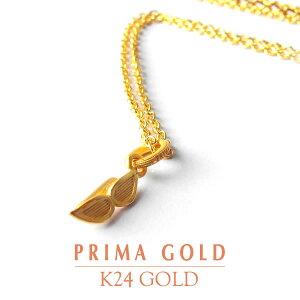 純金 24K ペンダントネックレス サングラス チャーム レディース 女性 イエローゴールド シルバー925 チェーン 24金 ジュエリー アクセサリー ブランド 可愛い プリマゴールド PRIMAGOLD K24 送料