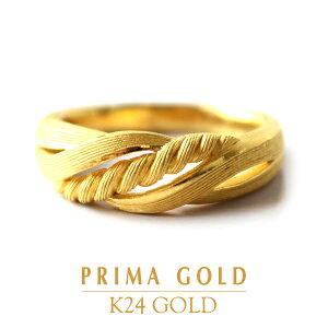 24K 純金 ヘアライン リング 指輪 24金 K24 ゴールド ライン エレガント レディース プレゼント 贈り物 女性 PRIMAGOLD プリマゴールド ジュエリー アクセサリー ブランド 送料無料