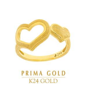 純金 24K ピンキーリング ハート 小指 指輪 レディース 女性 イエローゴールド プレゼント 誕生日 贈物 24金 ジュエリー アクセサリー ブランド プリマゴールド PRIMAGOLD K24 送料無料