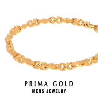 Pure gold bracelet men man yellow gold gift present birthday memorial day present 24-karat gold jewelry accessories brand metal guarantee of quality popularity prima ballerina gold PRIMAGOLD K24