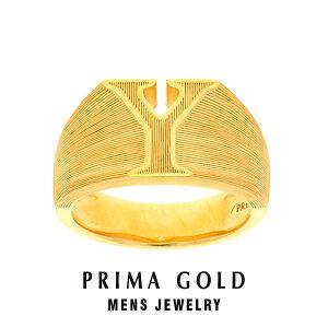 純金 24K アルファベット イニシャル Y 印台リング 指輪 メンズ 男性 イエローゴールド プレゼント 誕生日 記念日 贈物 24金 ジュエリー アクセサリー ブランド プリマゴールド PRIMAGOLD K24 送料