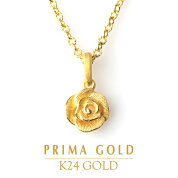 純金一輪のバラペンダントレディース女性イエローゴールドギフトプレゼント誕生日贈物24金ジュエリーアクセサリーブランド品質保証人気プリマゴールドPRIMAGOLDK24送料無料