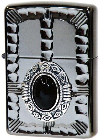 【ジッポ】 NM3-BKON ライター オニキス天然石 (ジッポ) ライター メタル 彫刻 人気のネイティブメタル (ジッポライター インナー刻印可)プレゼントZIPPO