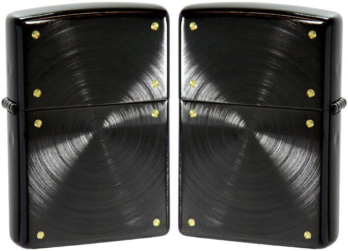 【ジッポ】 ジッポライター メタル・彫刻スピン・スクリュー加工 2BNSP-SF ブラックアイススペシャルプレゼントZIPPO