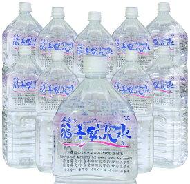 霧島の福寿鉱泉水 2Lペットボトル×10本箱入 天然温泉水(シリカ水・硬水ミネラルウォーター)