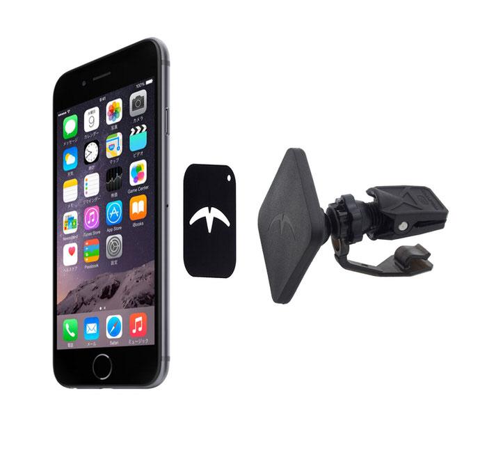 【送料無料】iPhone iPad対応 スマートフォン 車載ホルダー エアコン吹出口取付型 マグネット 磁石 マグネット式車載ホルダー 車載スタンド Mountek AirSnap マウンテック エアー スナップ