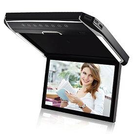 LOSKAフリップダウンモニター高画質1280*80012.1インチデジタルフリップダウンモニター LEDバックライト液晶HDMI MicroSD/USB対応 IR