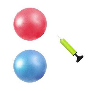 ヨガボール バランスボール ミニ ストレッチボール ピラティスボール フィットネスボール 20cm 2個セット(ピンク1個+ブルー1個)