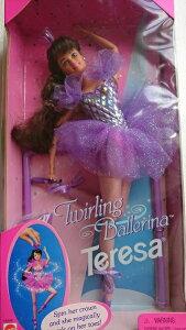バレリーナバービー人形 Barbie 1995Twiring Brbie Teresa  回転バレリーナ バービー バレエ雑貨 バレリーナ人形 バレエ雑貨