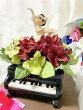 NRバレリーナ人形プリザーブドフラワーピアノ白いチュチュバレエ雑貨バレリーナ雑貨ピアノ雑貨パワーストーン風水
