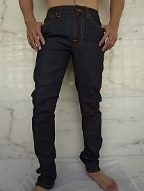 "Nudie Jeans(ヌーディー ジーンズ)【LEAN DEAN】""Carrot Shape Fit""""Dry 16 Dips""ストレッチ混スリムストレートJeans★"