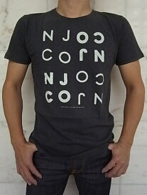 "Nudie Jeans(ヌーディー ジーンズ)【NJCONJCO】O-NECK TEE""オーガニックコットン""ショートスリーブプリントTee★ANTRACITE MELANG☆"