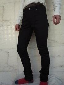 "Nudie Jeans(ヌーディー ジーンズ)【THIN FINN】C/#470""LOW YOKE THIN SKINNY LEGS""""DRY COLD BLACK""ストレッチ混スリムスキニー""BLACK""Jeans★"