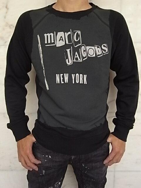 "MARC JACOBS(マーク ジェイコブス)【mArC JACobS NEW YORK】""SLIM FIT""ラグランスリーブSWEAT★BLACK★"