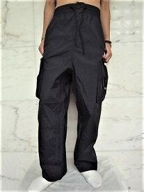 """adidas STYLE Y-3(ワイ−スリー)【Y-3 SHELL TRACK PANTS】""""スリーストライプス""""ナイロントラックカーゴパンツ★BLACK★"""