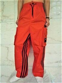 """adidas STYLE Y-3(ワイ−スリー)【Y-3 SHELL TRACK PANTS】""""スリーストライプス""""ナイロントラックカーゴパンツ☆ICON ORANGE★"""