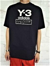 "adidas STYLE Y-3(ワイ−スリー)【Y-3 STACKED LOGO SS TEE】""Y-3&YOHJI YAMAMOTO""ロゴプリント&刺繍ショートスリーブ Tee★BLACK★"